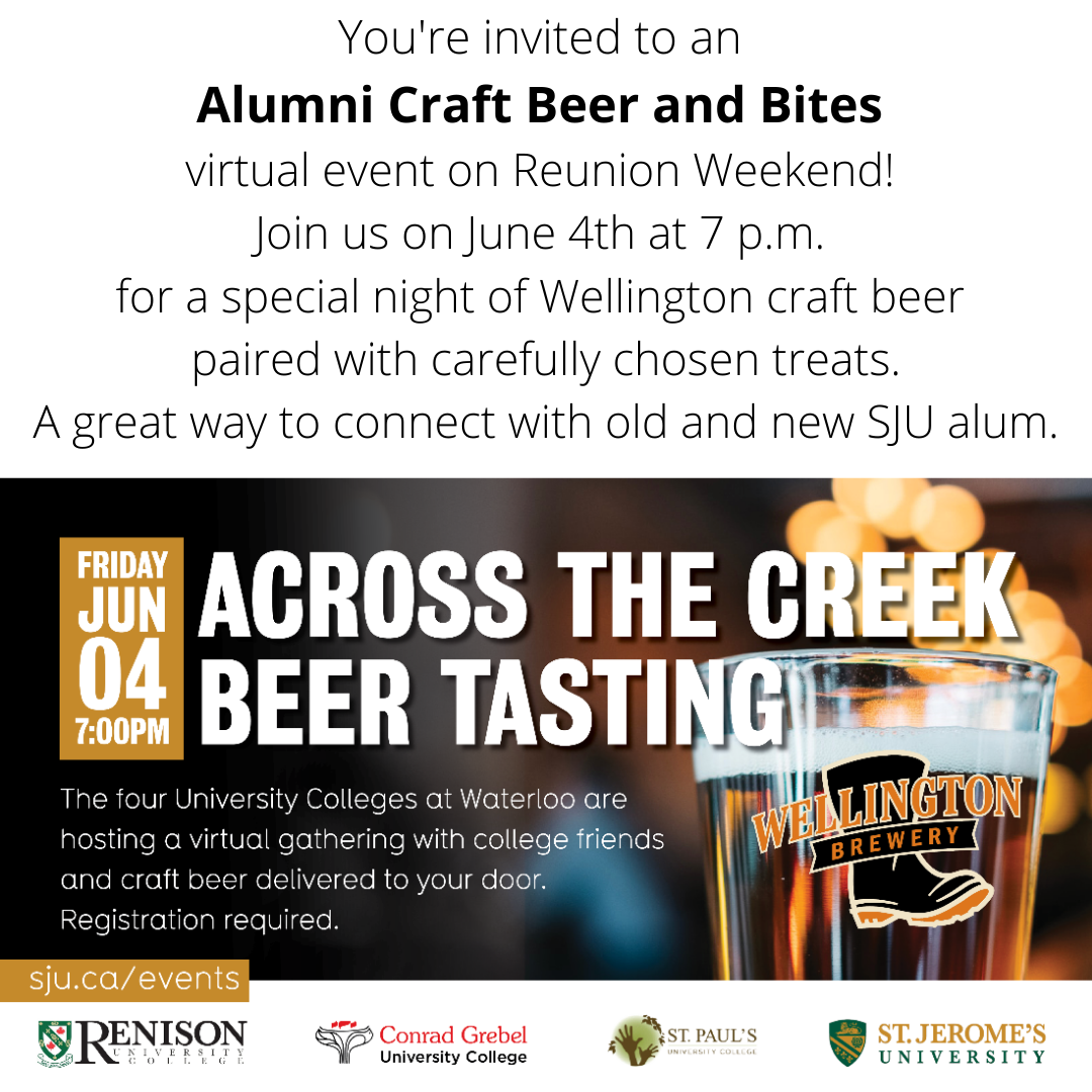 Alumni Craft Beer and Bites Event June 4th