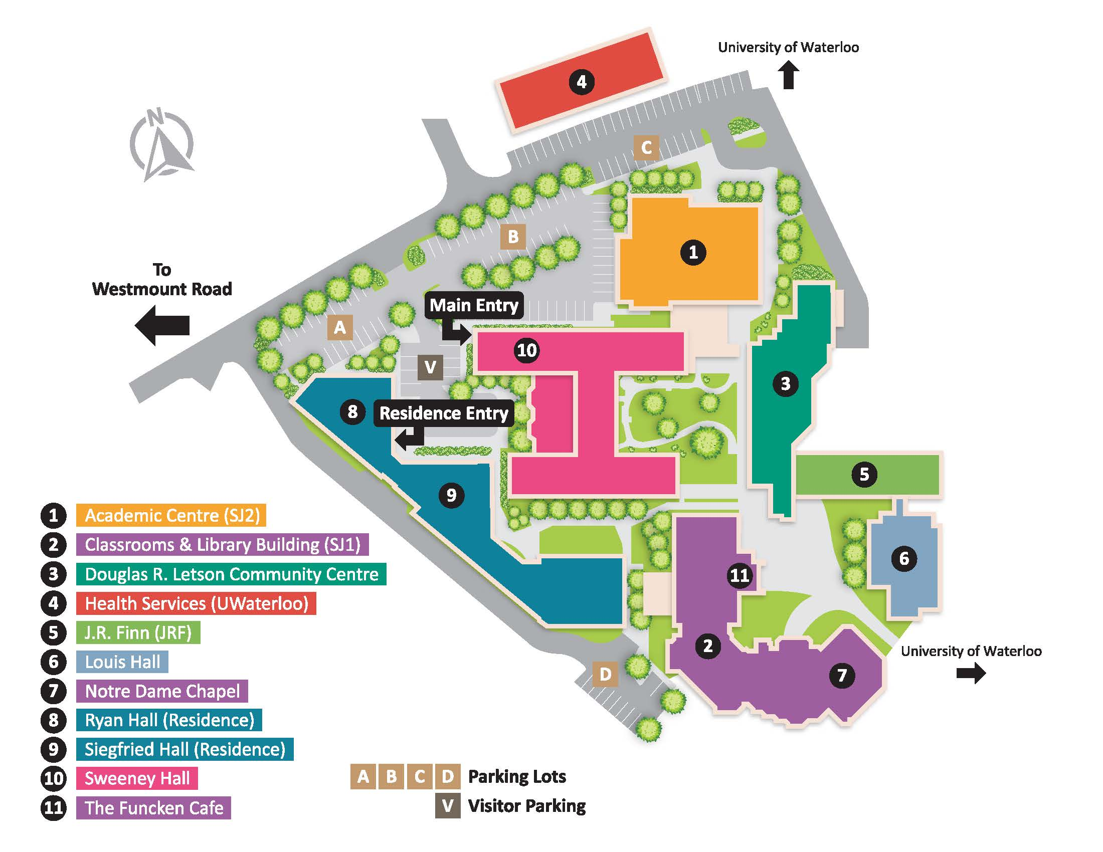 University Of Waterloo Map Location & Maps | St. Jerome's University University Of Waterloo Map