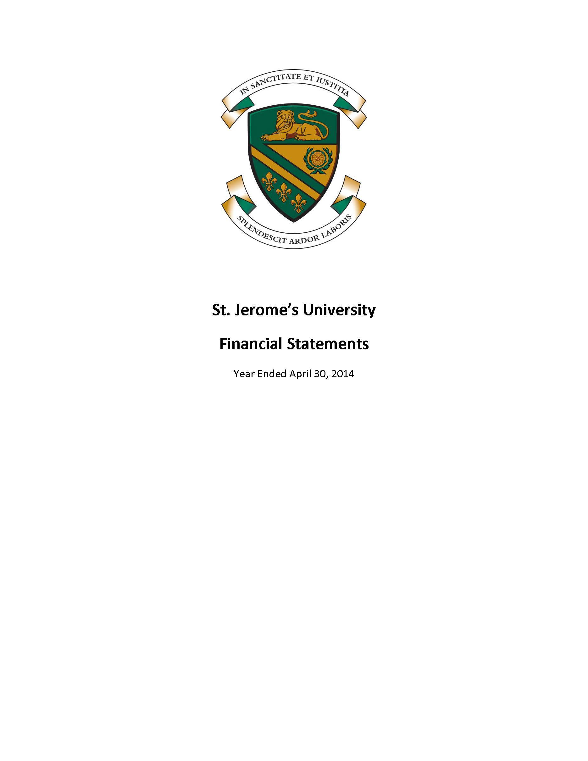SJU Financial Statements Ending 2014