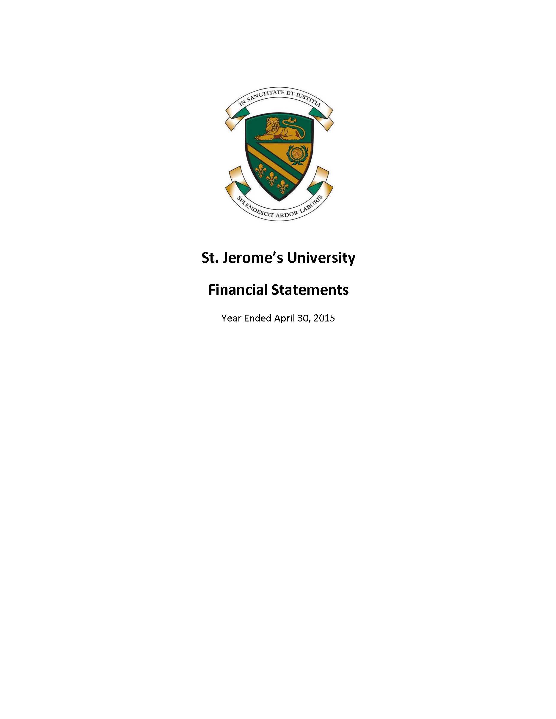 SJU Financial Statements Ending 2015