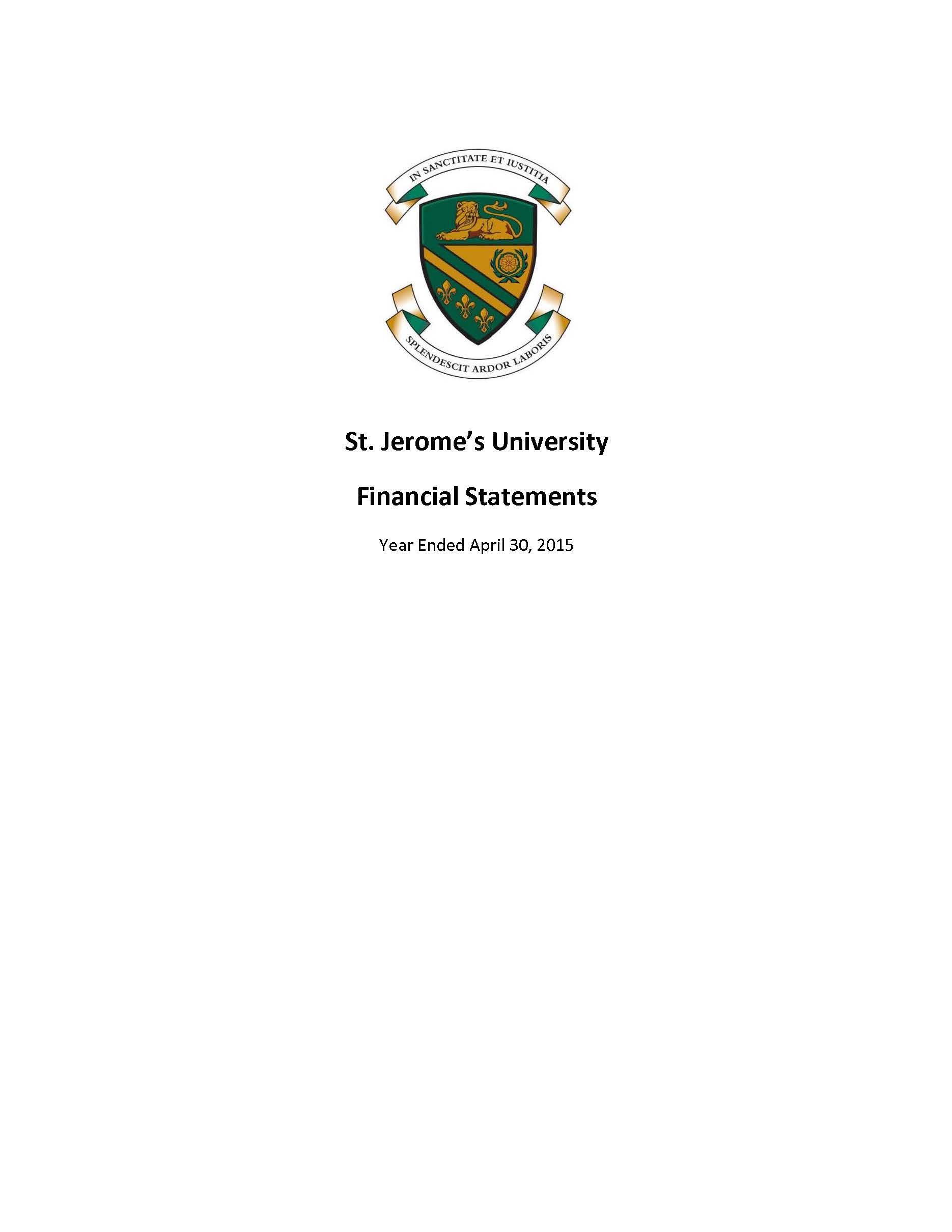 SJU Financial Statements Ending 2015