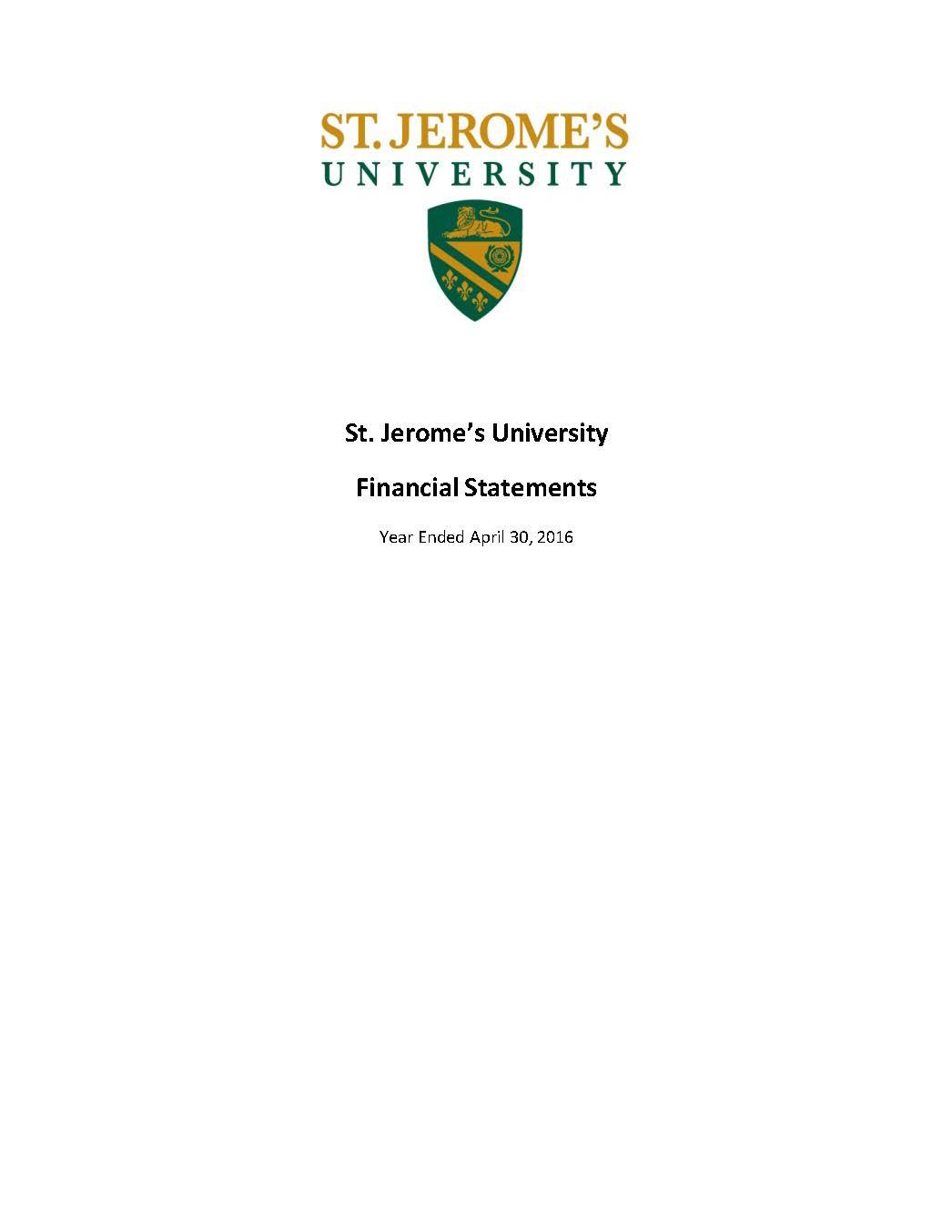 SJU Financial Statements Ending 2016