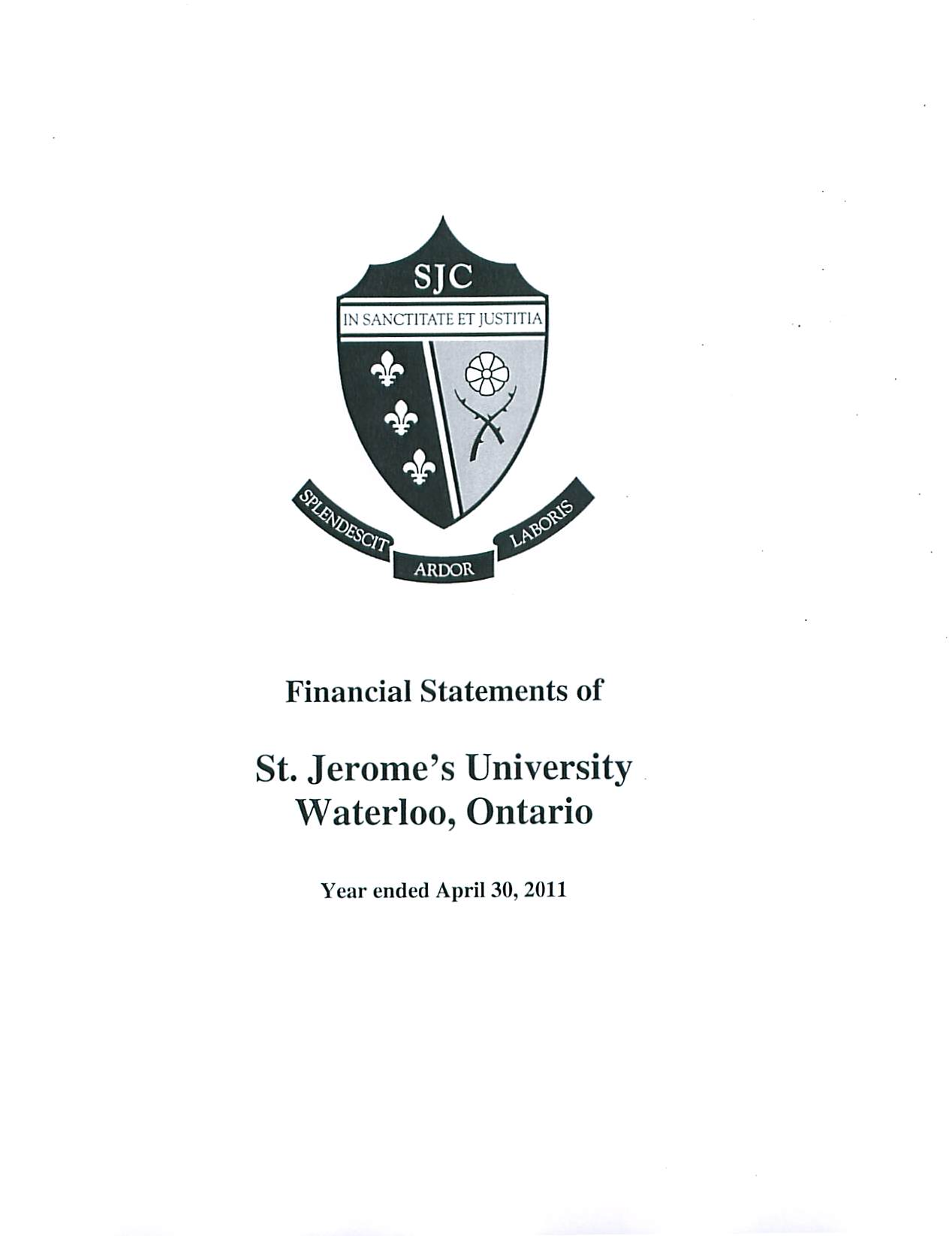 SJU Financial Statements Ending 2011