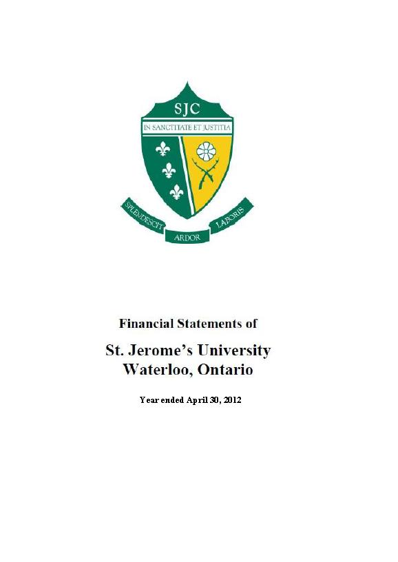 SJU Financial Statements Ending 2012