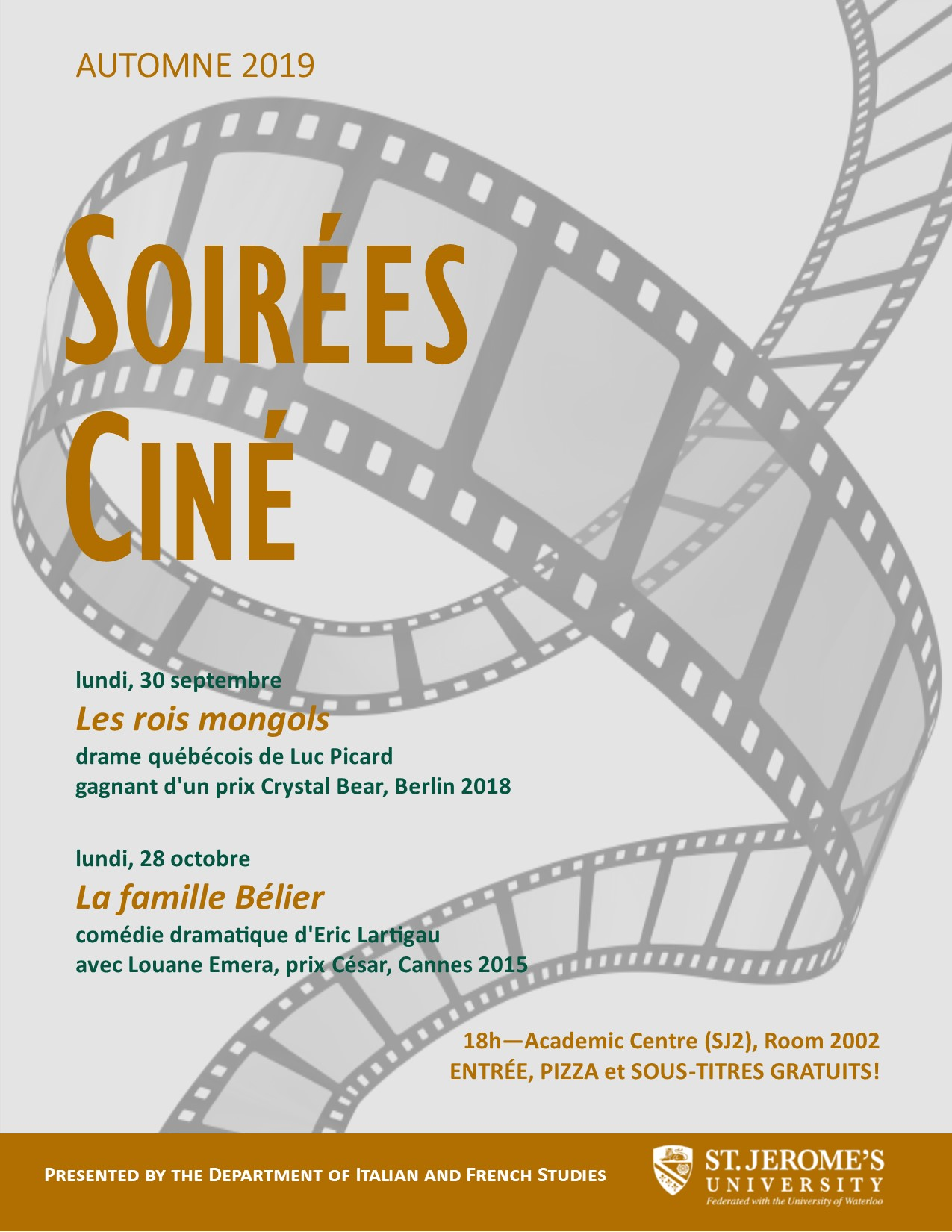 Soiree Cine Fall 2019
