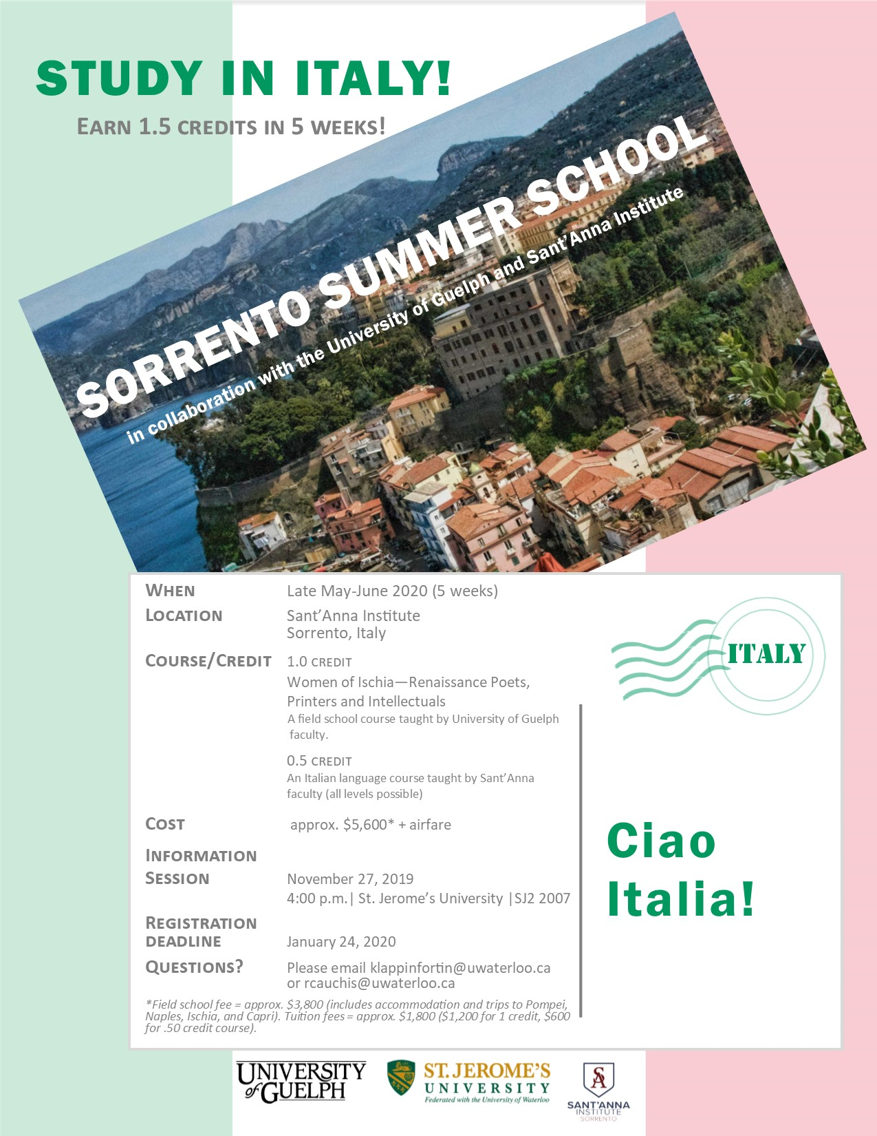 Study in Italy - Sant'Anna Institute