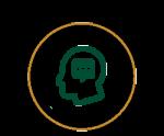 Icon of Human skull thinking