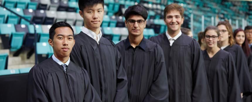 Image of students in academic dress