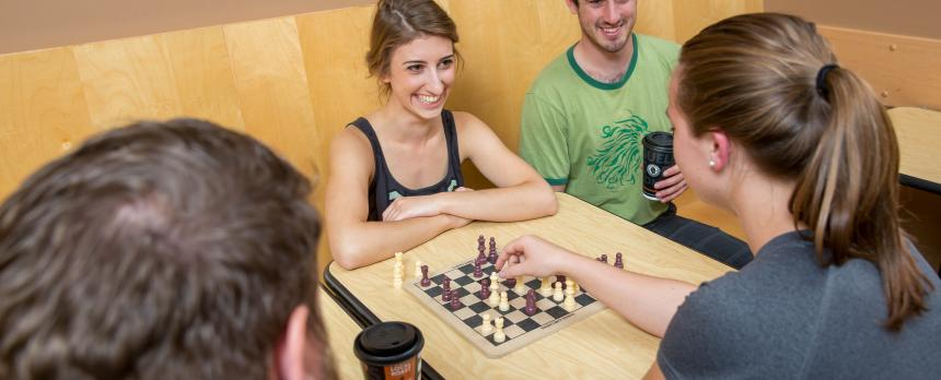 Image of students playing Chess