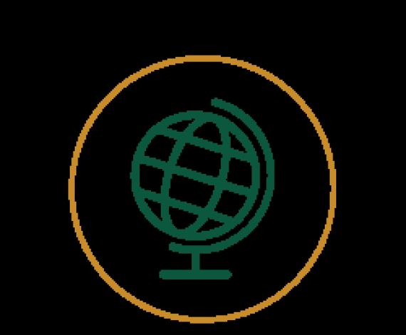 Icon of a globe showpiece