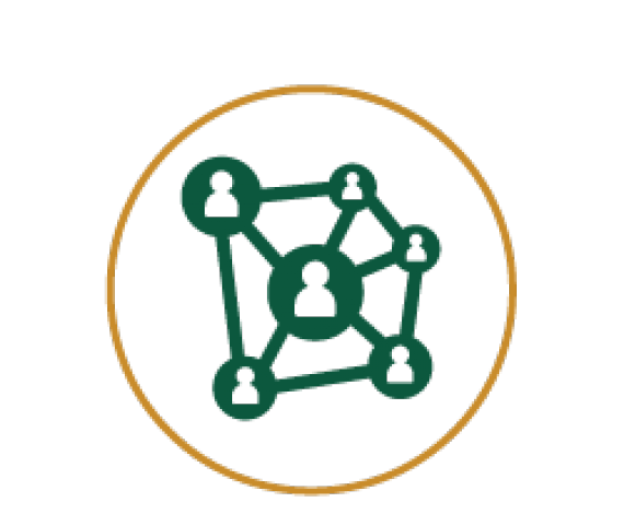 Icon of an interconnecting people