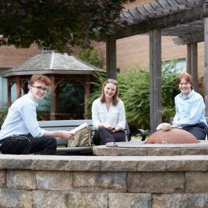 SJU SU Executive Members in Alumni Garden