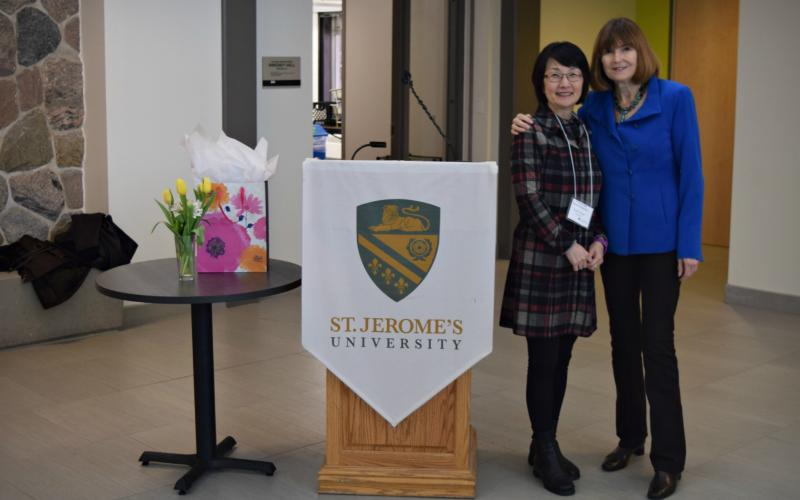 Picture of Dr. Jean Kilbourne with Dr. Debbie Wang