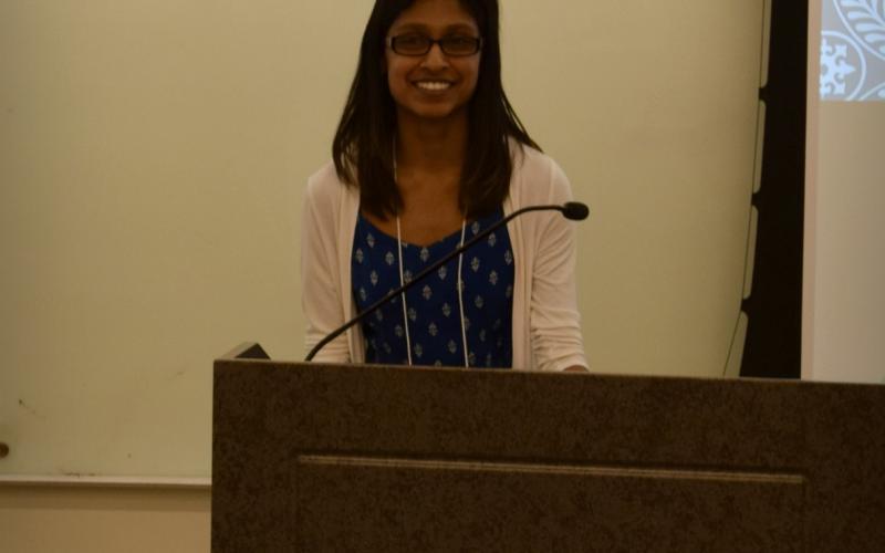 One of the speaker at symposium