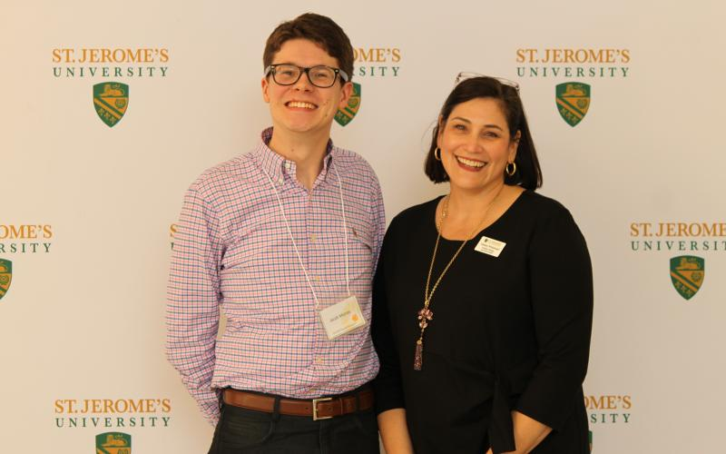 Picture of Jacob Murray with Assistant Professor Denise Whitehead
