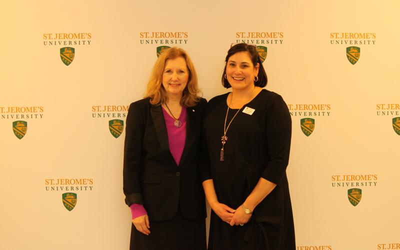 Picture of Mary gordon with Assistant Professor Denise Whitehead