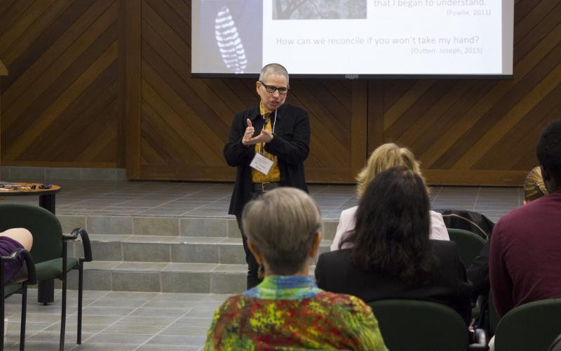 Dr Susan Dion presenting keynote